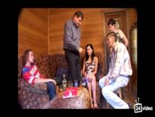 Заказал для сына в баню русскую опытную проститутку
